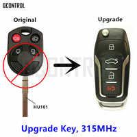 QCONTROL Verbesserte Remote Key Fit für Ford OUCD6000022 315 MHz Escape Focus C-max Transit Connect HU101 Klinge