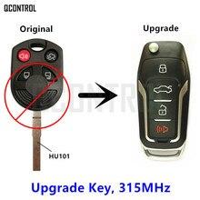QCONTROL Verbesserte Remote Key Fit für Ford OUCD6000022 315 MHz Escape Focus C max Transit Connect HU101 Klinge