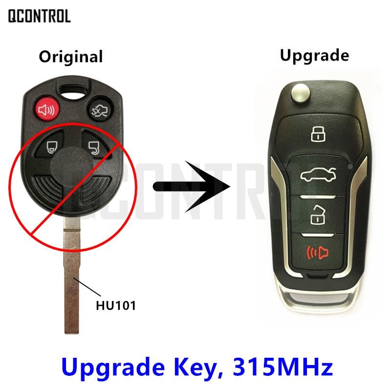 QCONTROL a amélioré la clé à distance adaptée pour Ford OUCD6000022 315 MHz Escape Focus c-max Transit Connect HU101 Blade