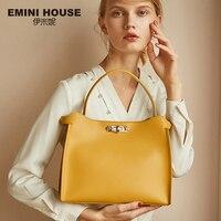 Эмини дом разрезная кожаная сумка повседневное Tote роскошные сумки для женщин дизайнер через плечо для сумка