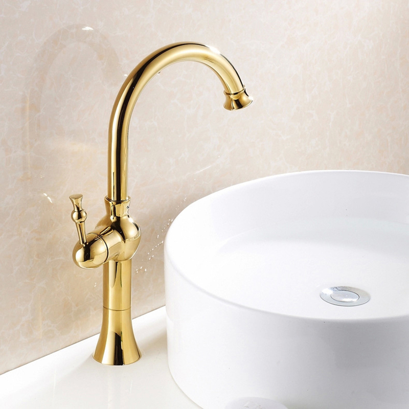 Kitchen & bathroom hot and cold water sink faucets golden brass deck mounted basin taps mixer washbasin faucet tapKitchen & bathroom hot and cold water sink faucets golden brass deck mounted basin taps mixer washbasin faucet tap