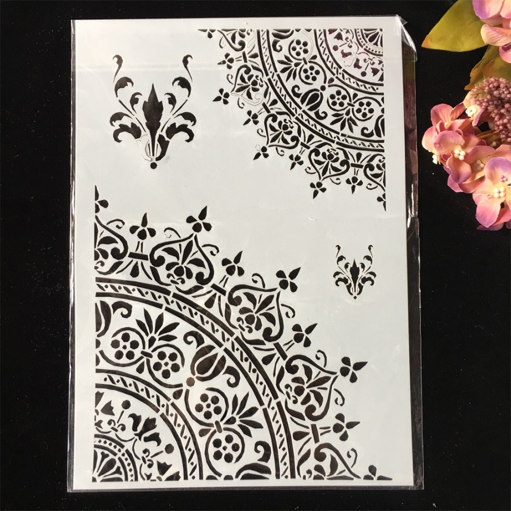 4Pcs Pack A4 Butterfly Paris Tower DIY Layering Stencils Wall Painting Scrapbook Coloring Embossing Album Decorative Template