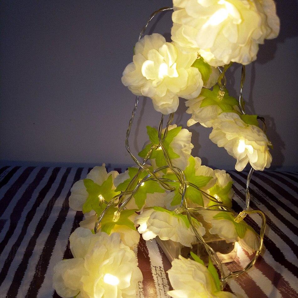 Holiday Floral Led String Lights Aa Battery Event Wedding Party Decoration 3m 20 Lighting Leds Bedroom Decoration