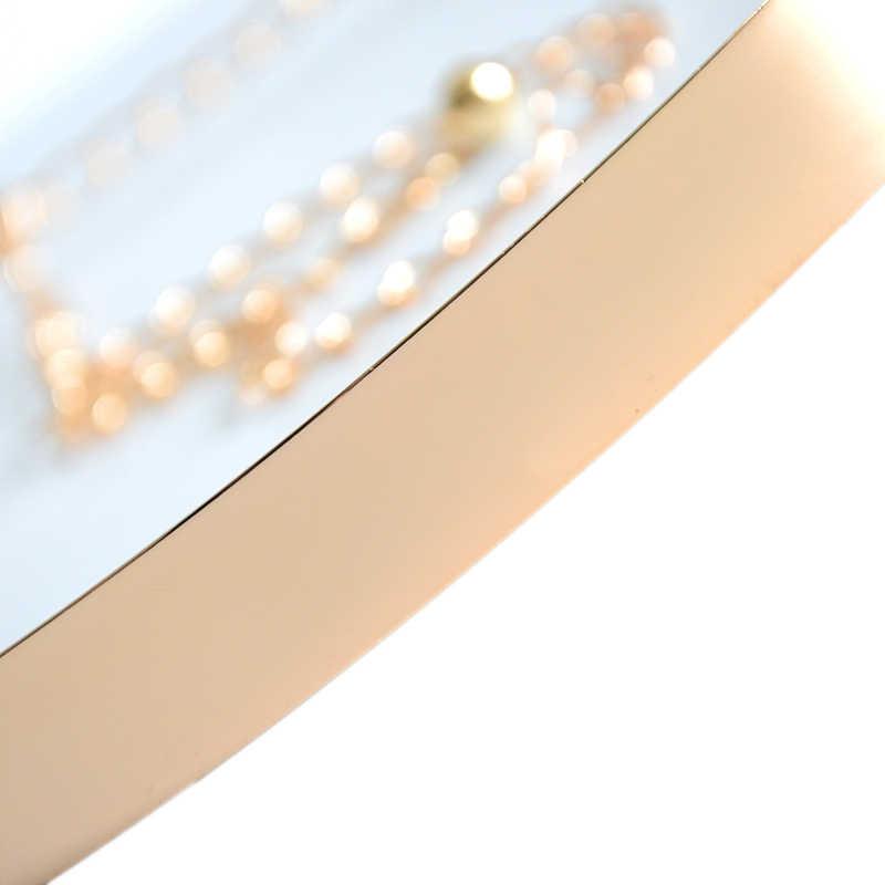 Moda kobiety pas w całości z metalu płyta łańcuszek do spodni złoty gorset dla kobiet letnia sukienka panny młodej i druhna pas błyszczące jak lustro