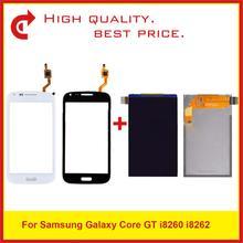 """Tela de 4.3 """"para samsung galaxy core i8260 i8262, digitalizador touchscreen gt 8262 8260 substituição de"""