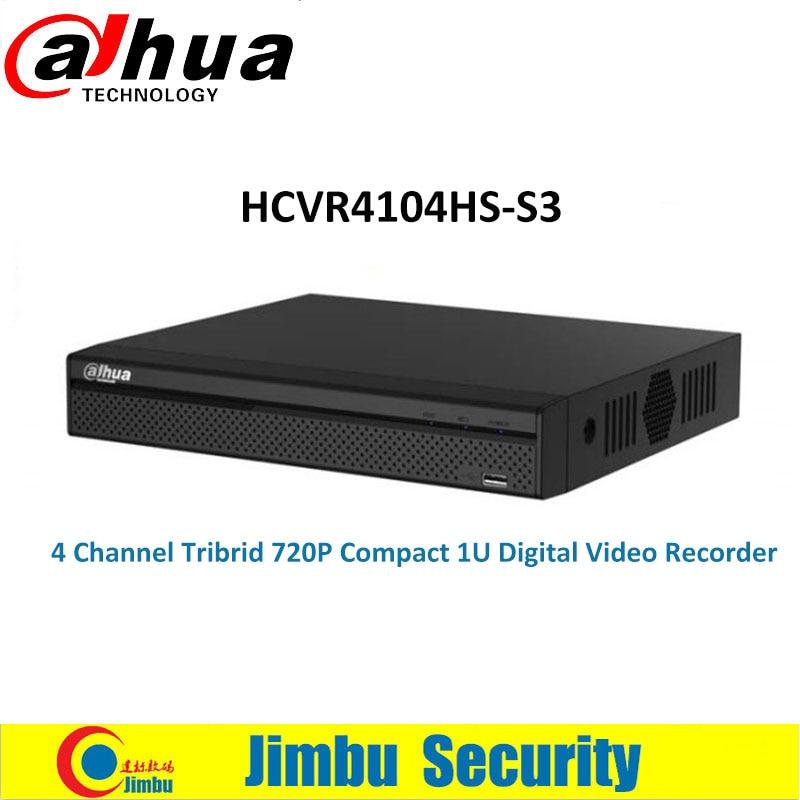 Dahua 4CH Tribrid 720P Compact 1U Digital Video Recorder HCVR4104HS-S3 H.264+/H.264 Support HDCVI/Analog/IP Video input