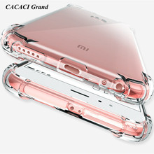 Купить с кэшбэком Silicone Shockproof Clear Soft Case for Xiaomi Mi 5X 5S Plus Mix 2 Mi6 AntiKnock Cases for xiaomi redmi 5 plus Note 4x 4A 4X
