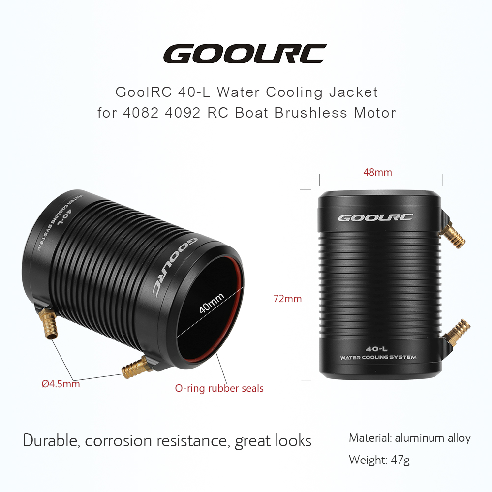 GoolRC 4074 2000KV Brushless Motor and 40-S Water Cooling Jacket Z9K7