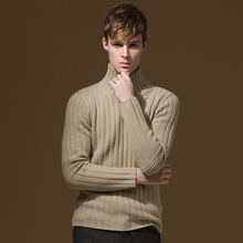 Mens Sweater Brand-Clothing Casual Spring Striped Slim Soft Coarse Young Man Pullovers Full Sleeve Beige Deep Blue Men Jumpers