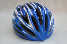 New Rubar Bicycle ROAD CYCLING MOUNTAIN  BIKE MTB Safety Helmet Small Medium 250G 54-58cm 27 holes Blue/White for Adults unisex