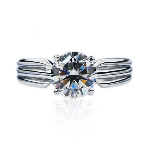 bague diamant argent blanc
