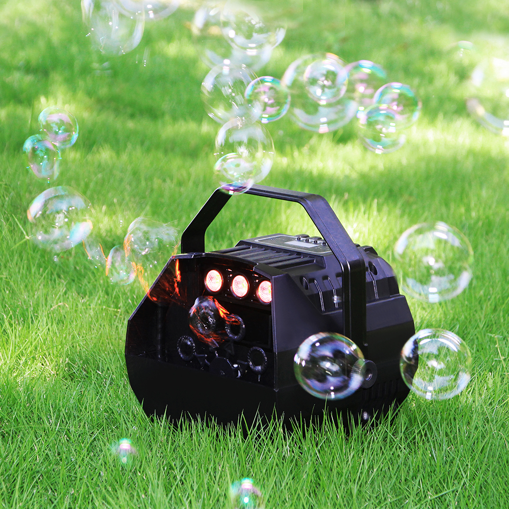 LED Lamp Romantic Stage Lights Wireless Remote Control Automatic Bubble Machine Great for Wedding Birthday Parties