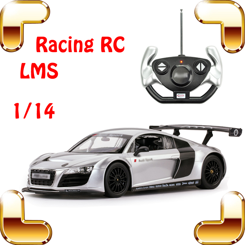 New Year Gift Rastar 1/14 Silver R8 LMS RC Remote Control Toys Car Radio Car Racing Drift Vehicle Faster Motor Collection