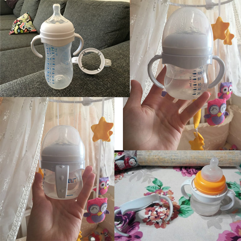 2018 Newest Hot Bottle Grip Handle for Avent Natural Wide Mouth PP Glass Baby Feeding Bottles W
