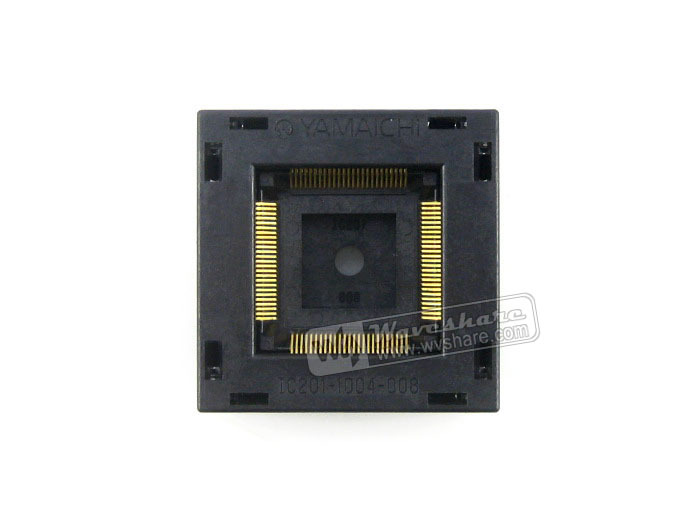 module IC201-1004-008 Yamaichi IC Test Socket 0.5mm Pitch QFP100 TQFP100 FQFP100 PQFP100 package ra8875l3n ra8875l3 ra8875 tqfp100