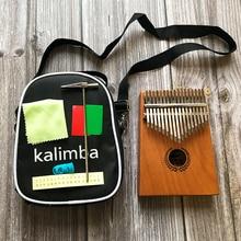 цена на 17 Key Kalimba African Solid Mahogany Thumb Finger Piano Sanza 17 keys Solid Wood Kalimba Mbira Thumb Kalimba