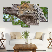 HD Print 5 Pcs Canvas Art Animals Painting Modern Home Decor Wall Art Picture Living Room