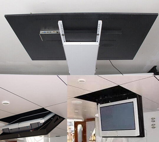 2017 motorized electric hidden flip down false ceiling led for Motorized flat screen tv lift