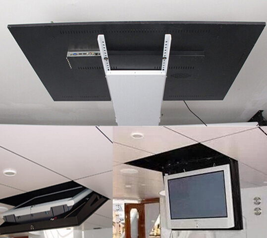 2018 motorized electric hidden flip down false ceiling led for Motorized flip down tv mount