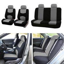 9PCS Automobiles Seat Covers Full Car Seat Cover Universal Fit Interior AccESSories Protector Car-Styling:Gray