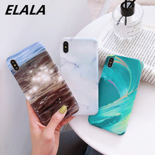 Glossy Marble Case For iPhone 7 Case IMD Cover For iPhone X XR XS MAX iPhone 6S 6 7 8 Plus Case Sea Patterned Summer Style Cover iphone 6s slim case sea waves