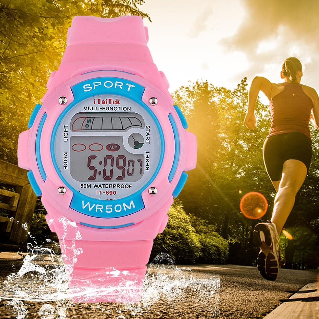 Children Multi Function Waterproof Sport Watch Luminous Fashionsmart Kids Sport Watches For Teenagers Waterproof Gifts For Kids