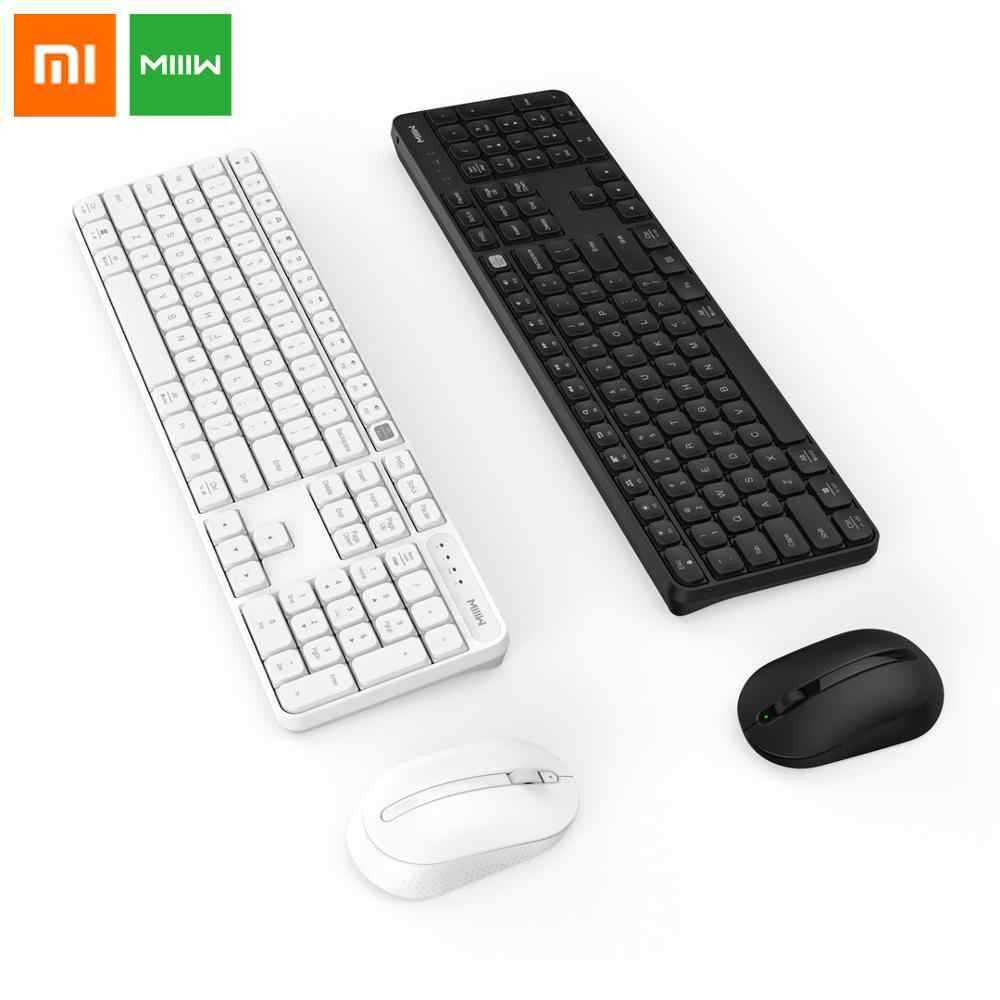 Asli Xiaomi Miiiw Rancangan RF 2.4 GHZ Wireless Office Keyboard Mouse Set 104 Kunci untuk Windows PC MAC Kompatibel Portabel USB keyboard