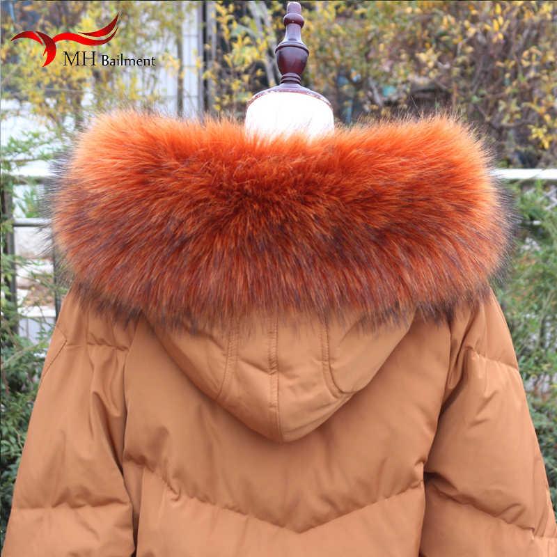 Nieuwe kunstmatige wasbeer vos bontkraag winter dames sjaal jassen bont sjaal multi-color warme sjaal dames winter shirt f14