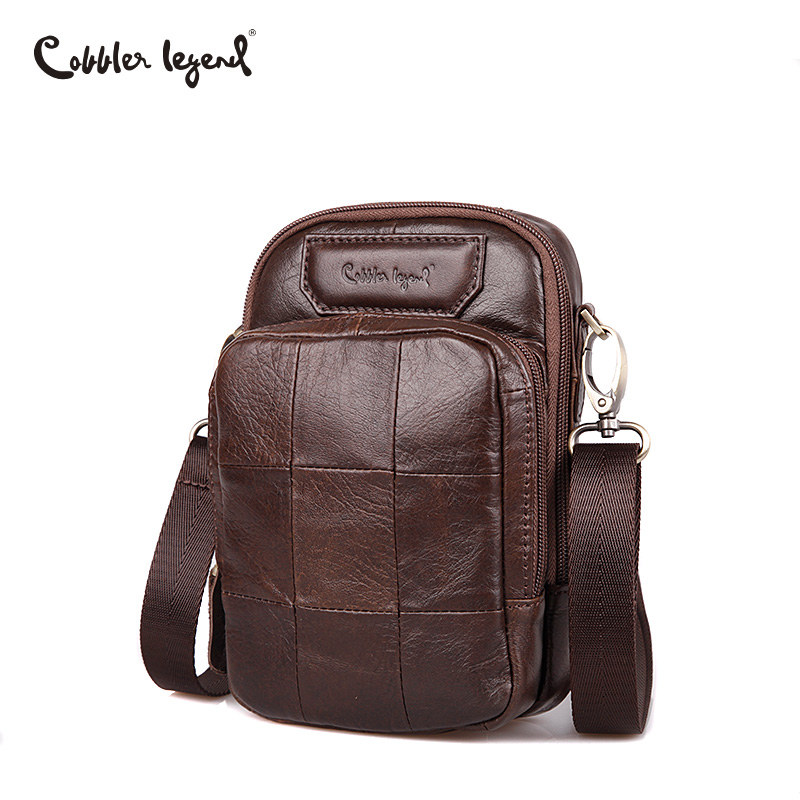 Cobbler Legend Genuine Leather Small Men Messenger Bag Casual Crossbody Bag Mens Business Handbag Bags for Gift Shoulder Bags