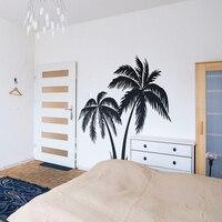 Большая наклейка на стену с пальмовым деревом для спальни летний Серфер для серфинга волна океан пляж настенные наклейки для детской комна...