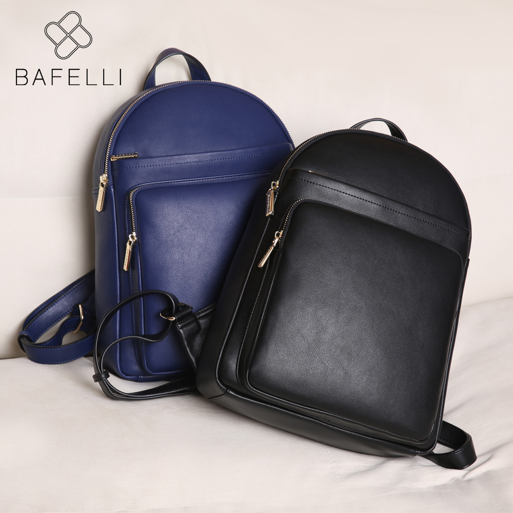 BAFELLI 2017 with the new fashion softback solid backpacks for teenage girls hot sale backpacks deep blue black women bag