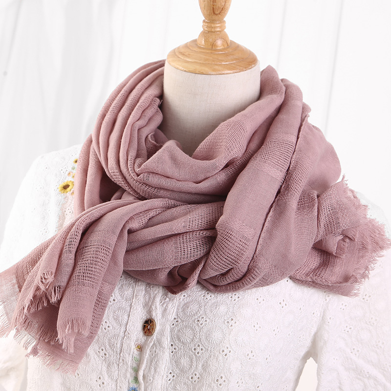 2018 Spring Women Cotton Linen Ethic Hollow Cut   Scarf   Fringes Large   Wraps   Stoles Pashmina Muslim Hijabs   Scarves   190x90cm