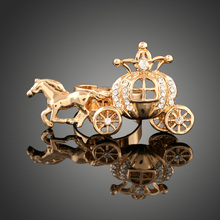 New Korean Jewelry Carriage Rings Gold color Silver color Top Quality Designer Anti allergy Alloy Women
