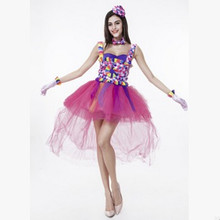 fantasia woman halloween circus clown costume female droll cosplay joker role play stage performance carnival parade party dress - Joker Halloween Costume For Females