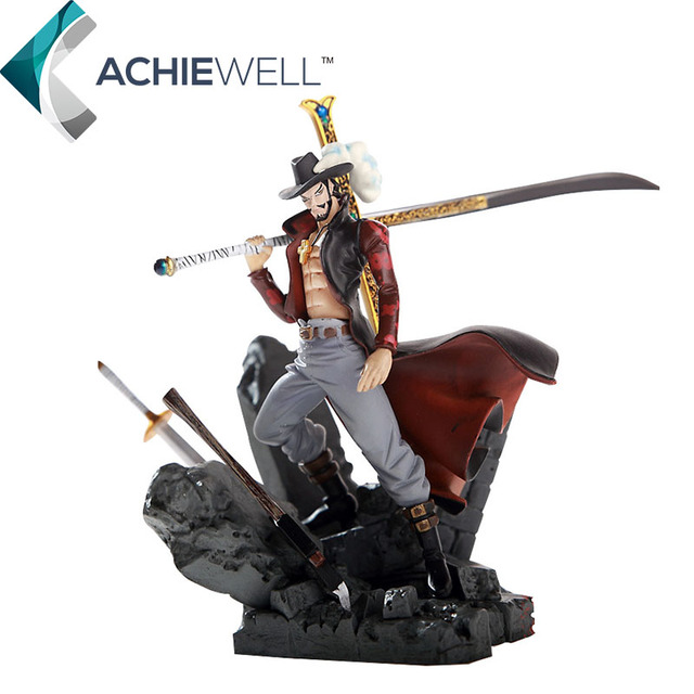 Japanese Anime One Piece Cool Hawkeye Dracule D Mihawk Action Figure Swordsman Model For Fan Collection
