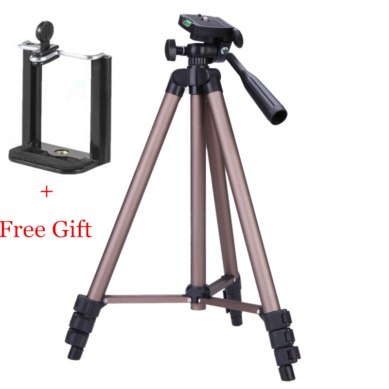 WT3130 Camera Tripod Stand with Rocker Arm Bracket Mount Monopod Styling Accesso