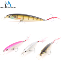 Maximumcatch 1Pcs New Minnow Bass Fishing Lures Crankbait Minnow Fishing Lures With VMC Hooks and Feather