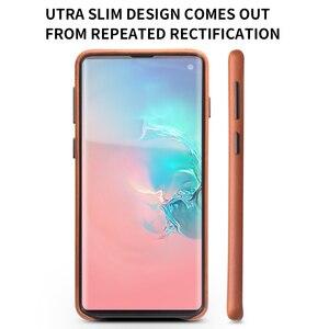 Image 3 - QIALINO moda prawdziwy skórzany tył pokrywa dla Samsung Galaxy S10 6.1 cali luksusowe ręcznie etui na telefony dla S10 Plus 6.4 cali