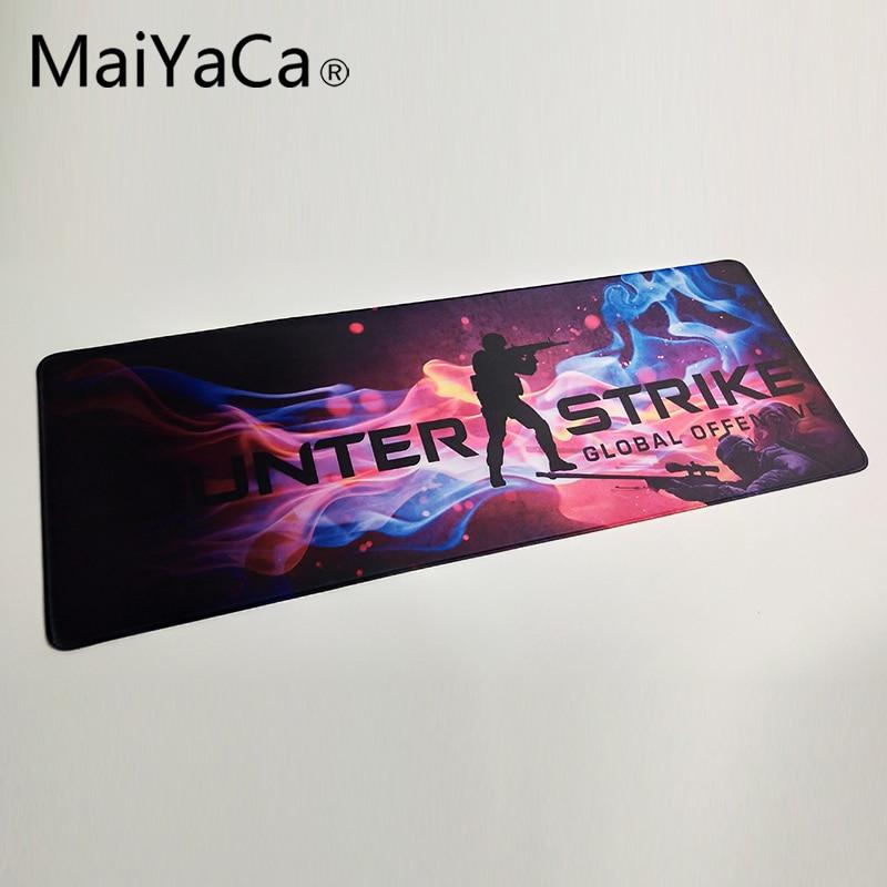 MaiYaCa Print Locking Edge Rubber Mousepads for Cs Go Counter Strike Mice Mat DIY Design Pattern Computer Gaming Cloud Mouse Pad