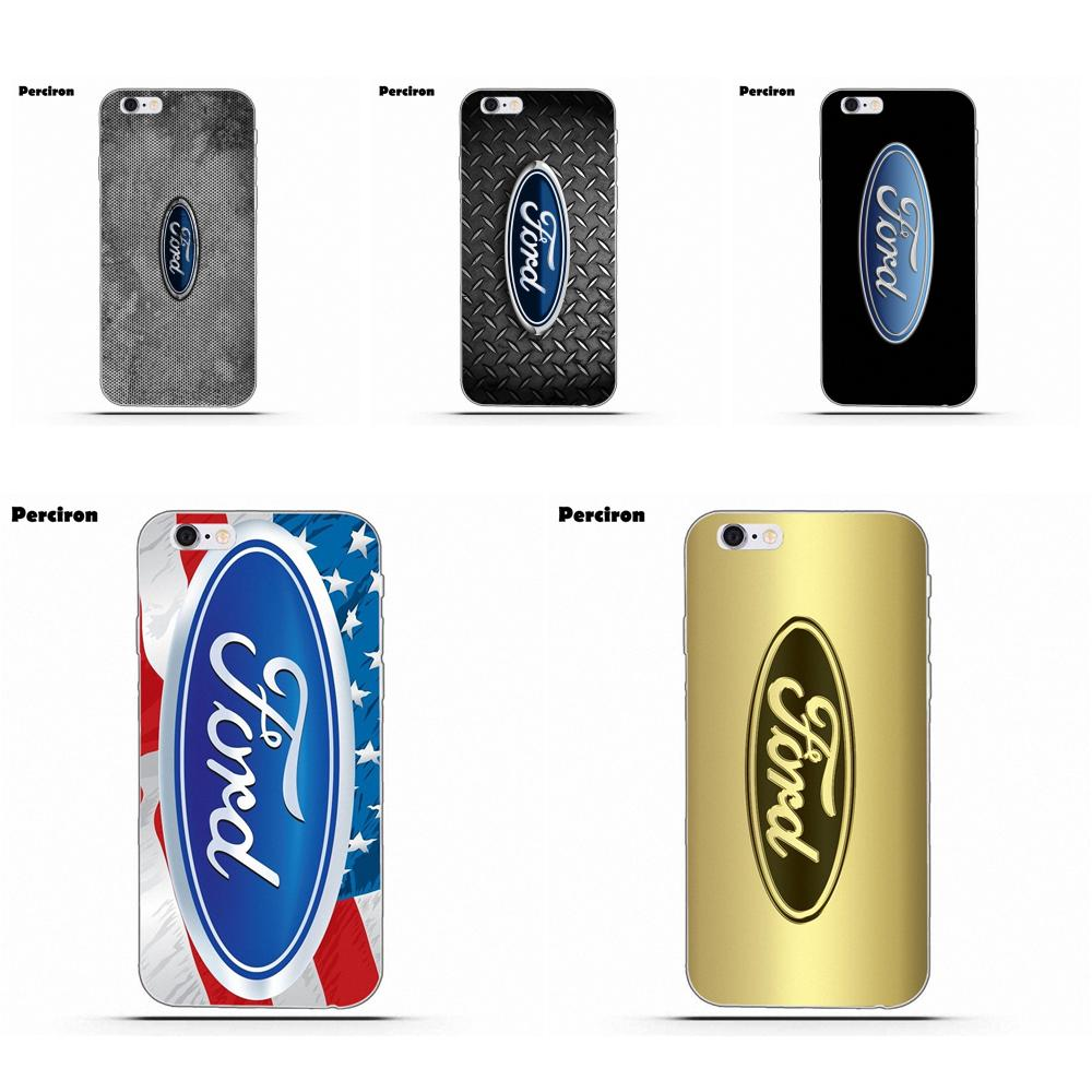 Auto Ford <font><b>Logo</b></font> Holz Für <font><b>iPhone</b></font> 4 4 S 5 5C SE 6 6 S 7 8 Plus X Galaxy s5 S6 S7 S8 Grand Core II Prime Alpha Weiche TPU Covers Fall image