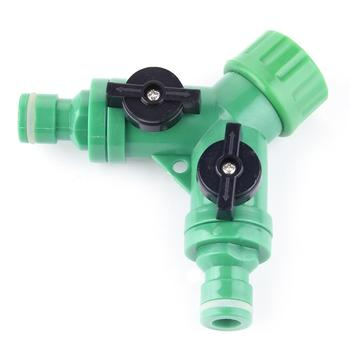 3 Ways Connect Head Drip Sprinkler faucet valve Agriculture Irrigation Pipe Waterstop Hose End Connector Barb Water Valves