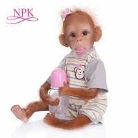 Nieuwe 45 CM handgemaakte zeer gedetailleerde schilderen reborn baby Aap orang-oetans collectible hoge kwaliteit art pop