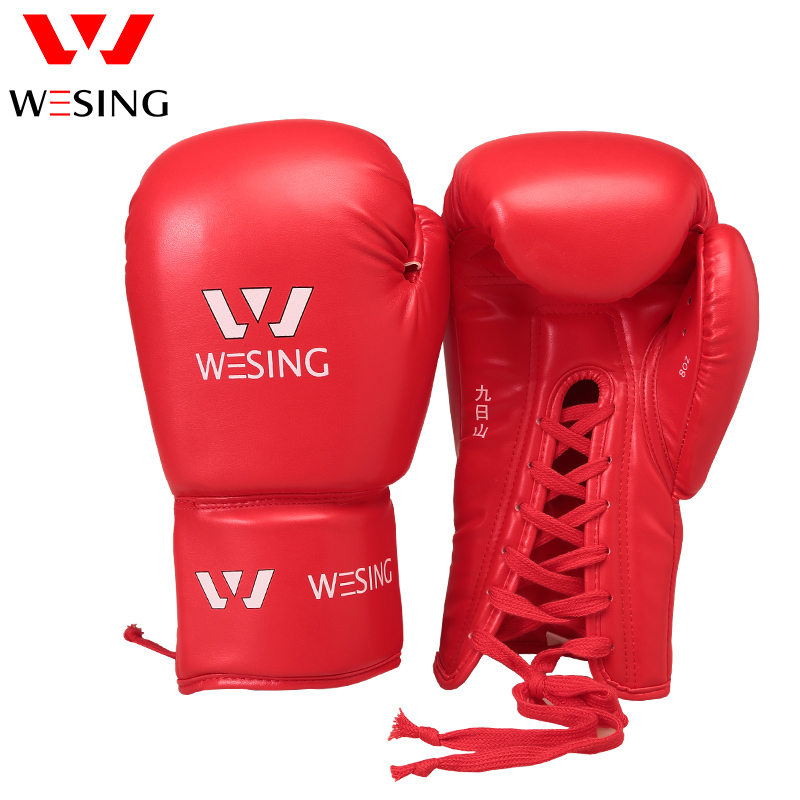 Lace UP Boxing Kickboxing Muay Thai Training Gloves Sparring Punching Mitts gloves boxing gloves bessky® cool mma muay thai training punching bag half mitts sparring boxing gloves gym