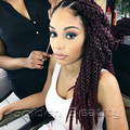 3 packs/ lot  22inch 3D Cubic twist Crochet Braids synthetic hair extensions Ombre Jumbo Dreadlocks Braids