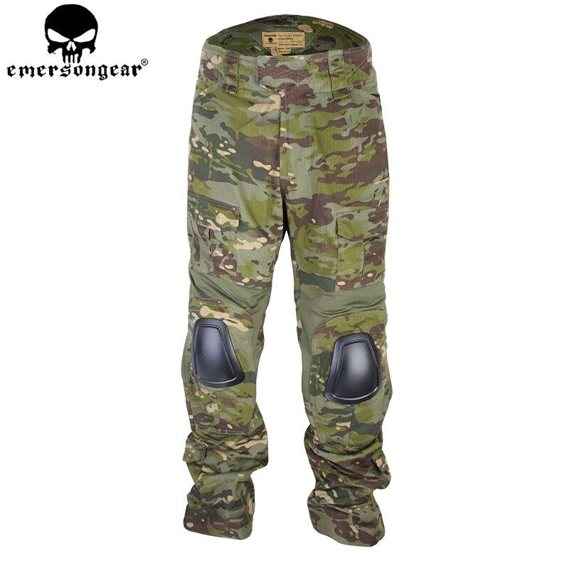 EMERSONGEAR Combat Pants Tactical Pants with Knee Pads Airsoft Camping Hiking Hunting BDU Combat Pants Multicam Tropic EM9281 new emersongear tactical woman g3 combat uniform pants