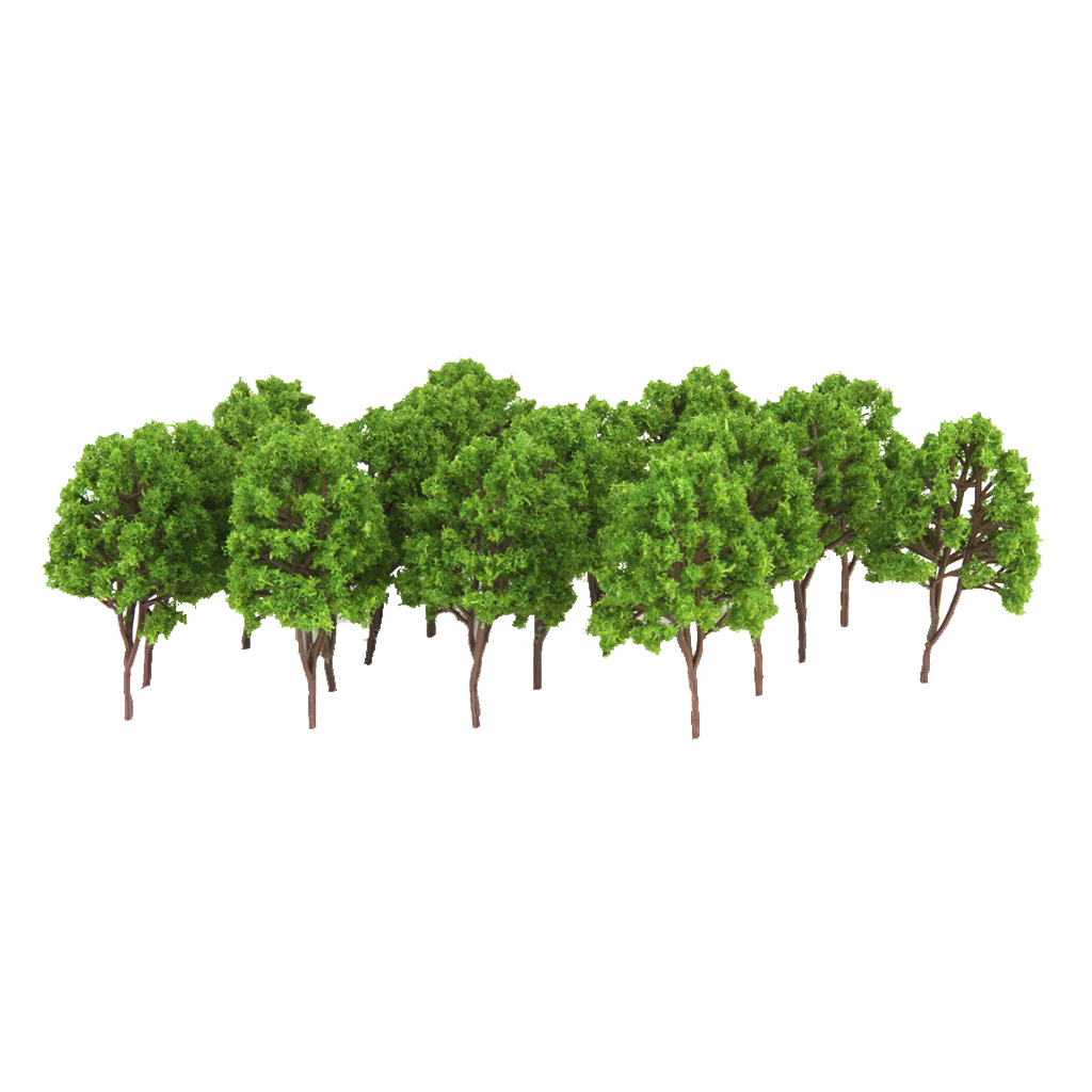 20 Pcs Miniature Trees For Railways Trains Layouts Architectural Supplies N Scale