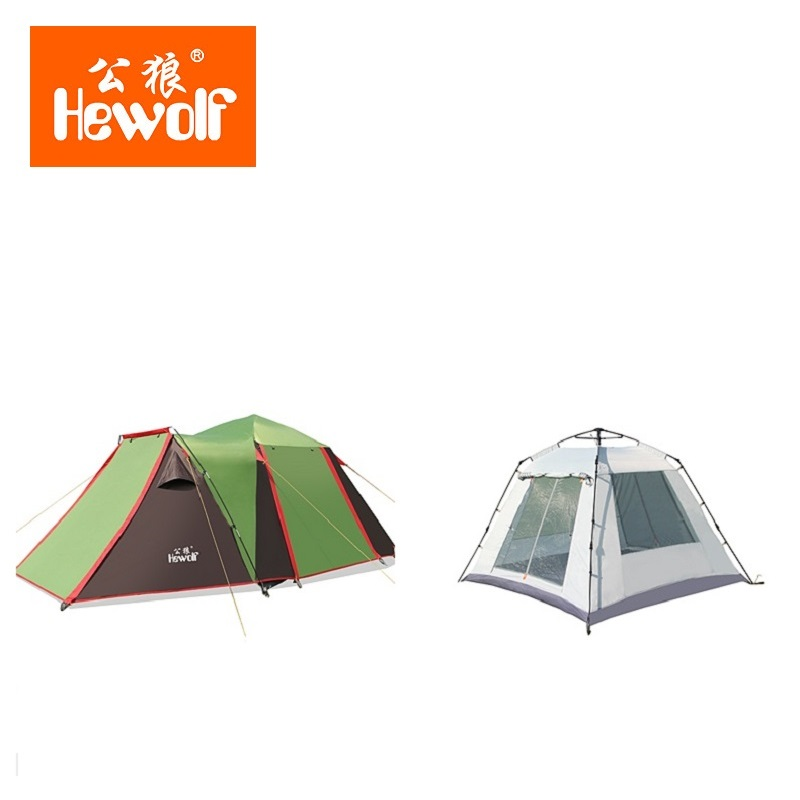Hewolf 3 4 persons Fully Automatic Tent 4 Doors Automatic C&ing Family Tent Good Quality Family Travel Tent One Room One Hall -in Tents from Sports ...  sc 1 st  AliExpress.com & Hewolf 3 4 persons Fully Automatic Tent 4 Doors Automatic Camping ...