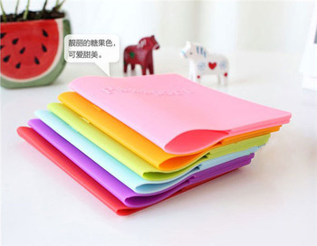 500 pcs passport cover ,candy-colored silicone cover for passport,dustproof waterproof colorful passport holder 1