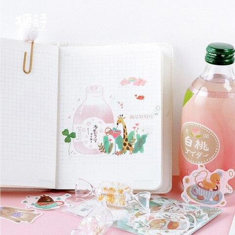 diario adesivos decorativos scrapbooking diy artesanato adesivos papelaria