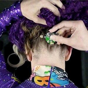 Image 3 - האופנה יוניסקס LED אור מזויף False ריס זוהר הניצוץ ריס עבור המפלגה בר איפור עיניים לאש ריסים מלאכותיים עפעף 20 #626